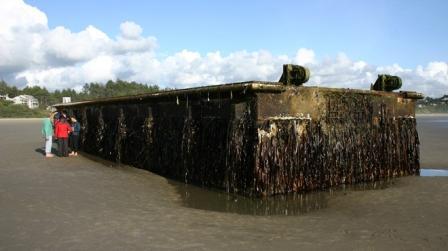 Cầu tàu 165 tấn dịp sóng thần Nhật trôi đến Mỹ