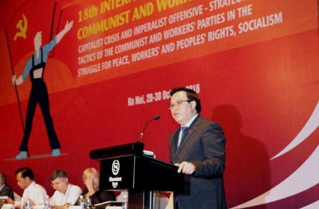 Khai mạc Cuộc gặp quốc tế các đảng cộng sản và công nhân lần thứ 18