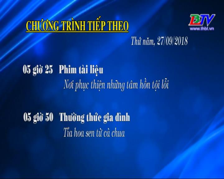 Chương trình ngày 27/09/2018