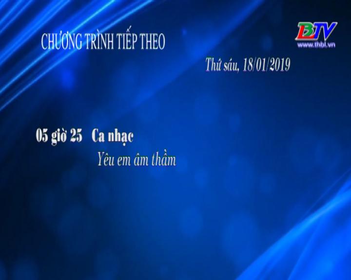 Chương trình ngày 18/01/2019