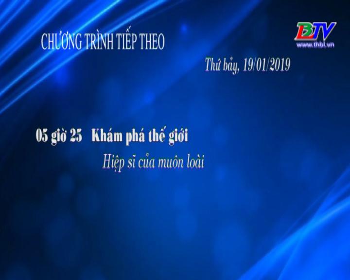 Chương trình ngày 19/01/2019