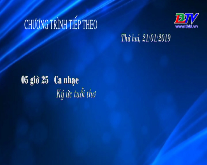 Chương trình ngày 21/01/2019