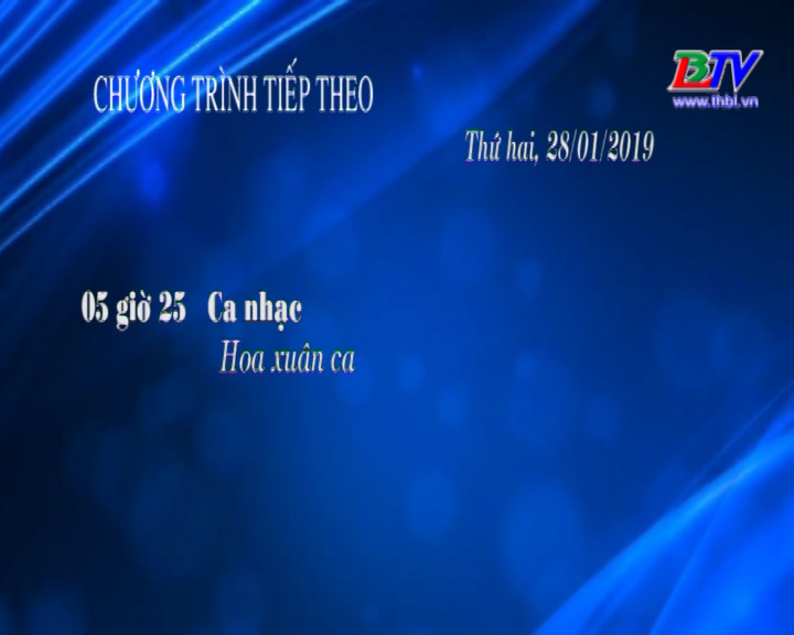 Chương trình ngày 28/01/2019