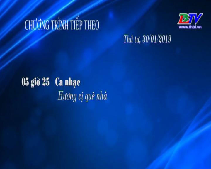 Chương trình ngày 30/01/2019