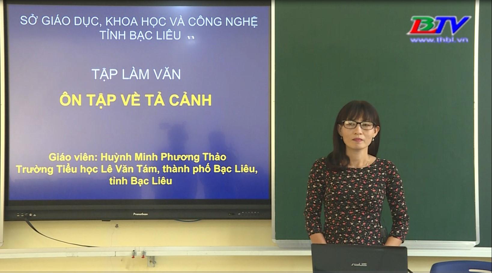 Tiếng Việt 5 – Tập làm văn: Ôn tập về tả cảnh – 28/5/2020
