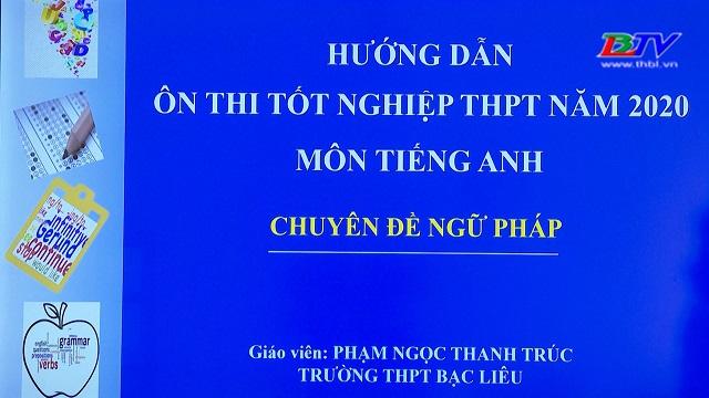 Tiếng Anh: Hướng dẫn ôn thi tốt nghiệp THPT năm 2020: Ngữ pháp – 05/6/2020