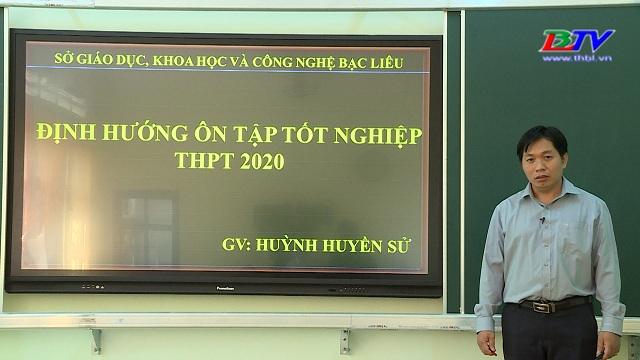 Hóa học: Định hướng ôn tập tốt nghiệp THPT năm 2020 – 09/6/2020