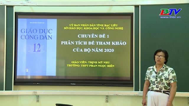 Giáo dục công dân 12: Phân tích đề tham khảo kỳ thi tốt nghiệp THPT năm 2020 (15/6/2020)